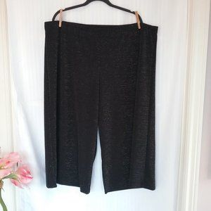 Kenar Women's Culottes Black with Sparkle. 3X NEW!